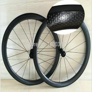 2018 년 신형 모델 45mm 도로 자전거 바퀴 U 형 자전거 카본 휠 디딤판 파워 카 허브 가벼운 카본 휠 무료 배송