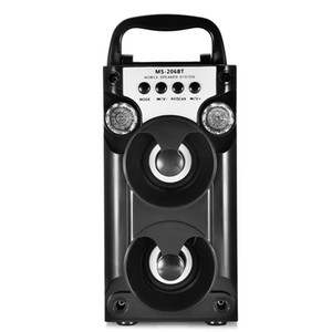 Redmaine Bluetooth Speaker TF Card Riproduzione di radio FM USB AUX LED portatile Shinning Stereo Music Player