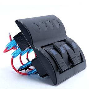 4 cuadrilla interruptor interruptor Rocker Panel 12V / 24V 3p 1led para embarcación marina