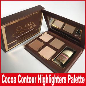COCOA Contour Kit Highlighters Palette Nude Color Cosméticos Corrector de cara Maquillaje Chocolate Sombra de ojos con Contorno Buki Brush