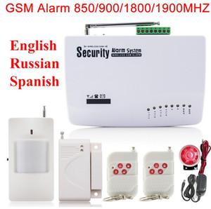 Top Qualität Russisch / Englisch / Spanisch Sprache und Manuelle GSM Wireless PIR Home Security Alarmanlage Auto Wählen SMS Anruf