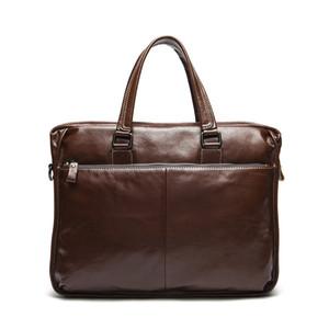 bolsa de couro genuíno 9006 Top camada de vaca de negócios de laptop de couro bolsas saco OEM disponível