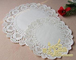 Toptan-SS016054 10.5 inç (180 adet) Romantik Kabartmalı Yuvarlak Beyaz Kağıt bardak altlığı peçete Doilies Ücretsiz kargo