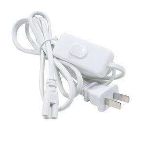 T8 T5 LED bağlayıcı çift uçlu güç kabloları anahtarı ile ABD Plug entegre led tüp konnektörü ışıkları için Stokta