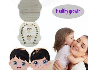 Baby Kids Durable Baby Zähne Box Organizer Holzkisten Laubzähne Aufbewahrungsbox