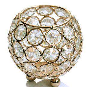 tamaño de smalles) portavelas de cristal candelabro de boda candelabros de cristal titular de la vela decorativa casera titular tealight decoración votiva