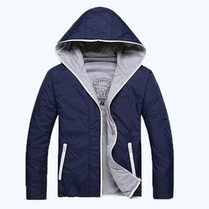 hiking jackets 2016 free shippinghoodies men casual fashion style thin solid color two-sided jacket men 2colors M-3XL 45
