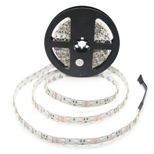 5M / 롤 RGBW / WW LED 스트립 라이트 더블 행 60leds 5050RGB + 60leds 2835 화이트 / 웜 화이트 비 방수 화이트 PCB