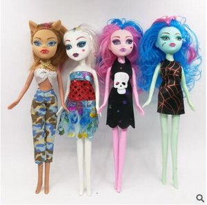 INS HOT Monster High Dolls Bambole per bambine per bambine Animali di peluche Cartoon Figure Model Dress-Up Toys Ship by DHL