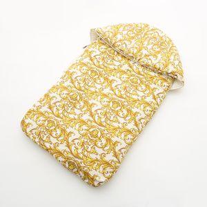 Sacco a pelo 38 stile bambino Stampa oro Sacco nanna per neonato autunnale e invernale