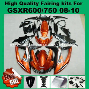 Carénage Injection pour 08 09 SUZUKI K8 K9 GSXR600 GSXR750 08 09 10 GSX-R600 GSX-R750 2008 2009 2010 orange noir kits de carénage # 267FF