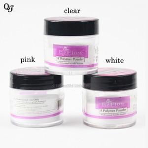 Alta Qualidade Profissional Nail Art Salon Claro Branco Rosa Cor Falso Nail Art Builder Dica Acrílico Em Pó de Cristal Polímero Poeira 1 Garrafas
