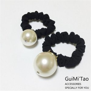 Koreanische elastische Haar-Bänder Perlen-Diamant-Gummi-Pferdeschwanz-Haar-Halter-Haar-Riegel-Zusätze für Frauen-Weihnachtsgeschenk