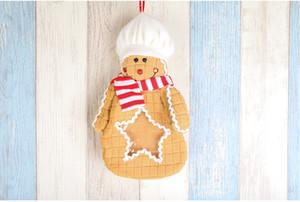 Festa de Natal 30pcs saco Candy box Gingerbread Man presente dos desenhos animados sacos de pano do biscoito do Natal homem decoração Gingerbread Bolsas para crianças