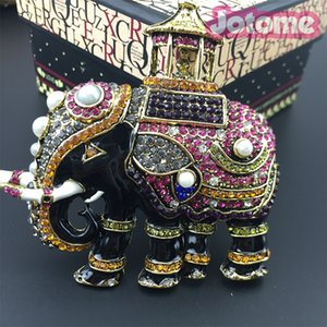 Мужчины Thiland слон брошь элементы Кристалл старинные броши Pin для костюм