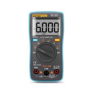 ZOTEK ZT101 رقمي متعدد المتر 6000 التهم العودة AC ضوء / DC مقياس التيار الكهربائي الفولتميتر أوم التردد ديود درجة الحرارة