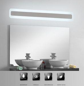 Modern Akrilik Banyo ışık Makyaj aynası kurşun ışık banyo Aplik Lamba Ayna Ön LED Aydınlatma Su geçirmez Buğulanmaya