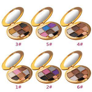 6 Colores Sombra de Ojos Brillo Sombra de Ojos Diamante Brillante Colorido Paleta de Maquillaje Cosmético Profesional Mascarada de Belleza herramientas DHL nave
