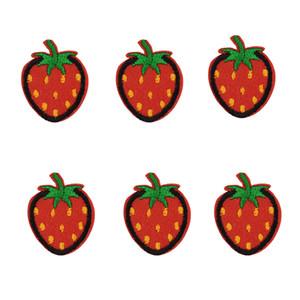10 pezzi di fragola patch badge per ferro da stiro di patch ricamato applique in ferro sulle zone cucire accessori per i vestiti fai da te
