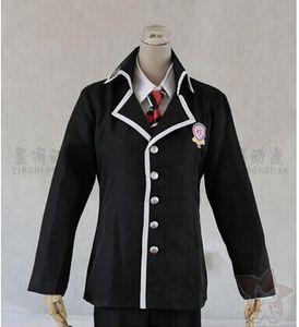Cosplay Blue Exorcist Okumura Rin Positive Cross Gakuen Boys Uniforme Suit (Escudo + School Badge + Printed Necktie + Pants + Shirt)