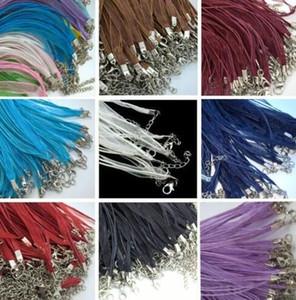 Grado superiore 18 pollici Organza Voile Ribbon 3 + 1 Catene Pendenti delle collane Vendita calda Moda Link Cord catena Collana per le donne Risultati dei monili