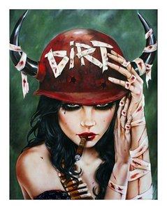 Обрамленная нечистая курящая сексуальная девушка Брайана М. вивероса, чистая ручная роспись абстрактный современный рисунок Поп-Арт Холст маслом.Multi размеры P093