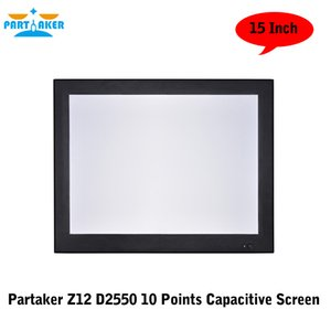 """Partaker Z12 Dual Lan 10 Points Capacitive Touch Screen All In One PC 15"""" With Atom D2550 Dual Core 1.86Ghz"""