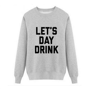 New Let's Day Drink 2018 autumn this is me printed Men O Neck T Shirt Casual long Sleeve Slim Fit