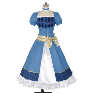 Malidaike Anime Black Butler Livre de l'Atlantic Elizabeth Dress Cosplay Cosstume Canonicals