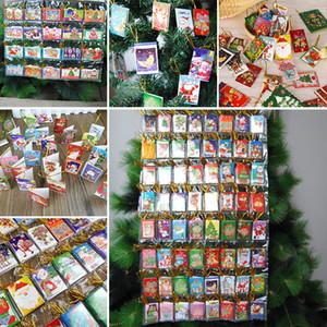 6,5 * 5,5 CM weihnachtsbaum Karten Dekoration Weihnachten Wunsch Karte Süße Schöne Weihnachtsbaum Ornamente Karten Geschenk auf Lager WX9-133