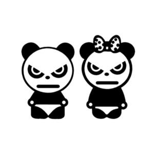 Bastelarbeiten Vinyl Aufkleber Auto Aufkleber Fenster Aufkleber Kratzer Aufkleber Gestanzte Stoßstange Zubehör Jdm Angry Bears Panda Animal