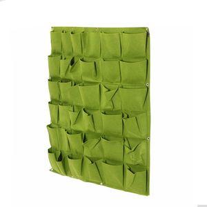 100x100cm Tenture murale sacs de plantation 36 poches Vert Grow Bag Planter Vertical Jardin Légumes Vivre Jardin Sac Home Supplies