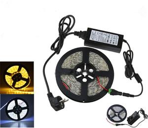 Striscia flessibile a LED 12V 5M 300 LED 5630 5050 3528 SMD + DC Connettore + 12V 6A Adattatore di alimentazione Freddo / Caldo Bianco / Blu / Rosso / Verde