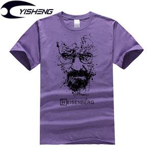 Atacado-Breaking Bad T Shirt Homens Heisenberg Top Quality Algodão de Manga Curta T-Shirt Dos Homens de Impressão Casuais tshirt MT703
