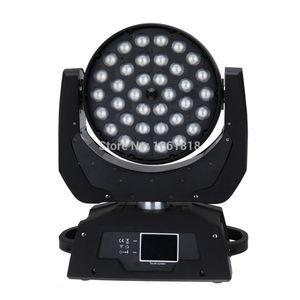 (2 unidades / lote) cabeza móvil disco luz led lavado lavar zoom 36x12w dmx etapa luz lavado cabezas móviles