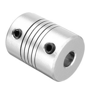 6.35mm x 10mm Aluminum Flexible Shaft Coupling CNC Stepper Motor Coupler Connector