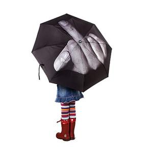 يندبروف للطي المظلات مظلة المطر الإصبع الأوسط النساء الرجال الرجال مظلة شمسية وهدايا غواردا chuva lkt075