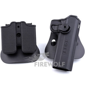"""Tactical Hunting Holster Retention Roto Holster Fits 1911 Variants with and without rails, 5"""" Hunting Accessories Free Shipping"""