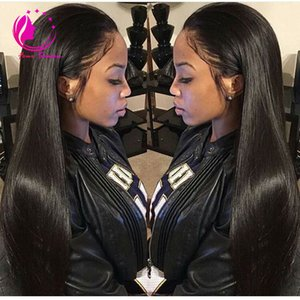 """30 """"parrucca di capelli umani lunghi della parte di U parte parrucca diritta serica peruviana della parte U dei capelli umani non trattati con i capelli del bambino per le donne nere"""