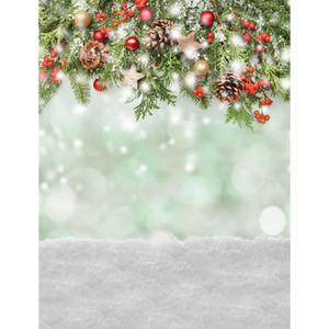 5x7ft الفينيل عيد الميلاد الشتاء الثلوج الصنوبر الأساسية التصوير استوديو خلفية خلفية