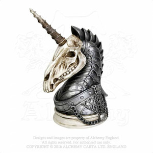 decorazione resina artigianato decorazione mestiere artigianato resina Alchimia americana The Vault V37 Geistalon Unicorn Skull Ornamenti per un teschio di unicorno