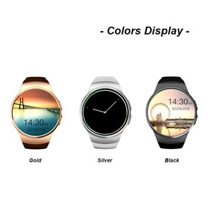 Card Smartwatch Slot 1.3 Inches Screen Round Monitor IPS KW18 Resistant Water Smart Phone With SIM Bluetooth Watch Sleep Heart Rate Tou Eauv
