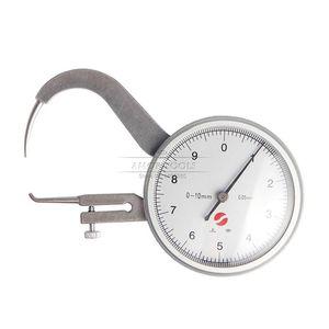 Freeshipping 0-10mm 0.05mm Dial Medidor de Espessura Tester Dial Snap Calibre Caliper Gauge ferramenta de Medição