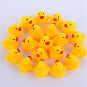 Baby Bad Spielzeug Sound Rassel Kinder Infant Mini Gummi Ente Schwimmen Baden Geschenke Rennen Quietschende Ente Schwimmbad Spaß Spielen Spielzeug IB255