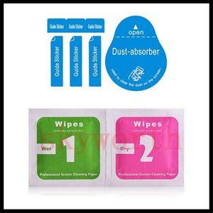 폭발 증거 강화 유리 화면 보호기의 도구를 청소 젖은 드라이 2 1 아이폰 삼성 전자 Ipad 휴대 전화 먼지 제거기에 닦으십시오