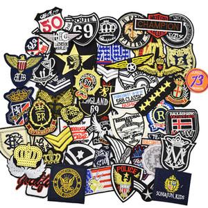 Distintivi 10PCS Badge per abbigliamento Iron on Transfer Applique Patch Cool per jeans da giacca Accessori da cucire fai da te Distintivo ricamo Ramdon