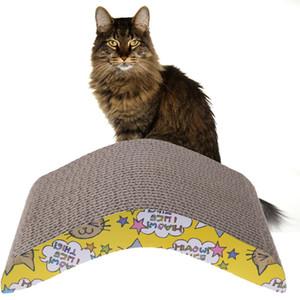 12st Cat Corrugated Scratch Board Pad Strapazierfähige Doppel-Seite Pad Scratcher Schlafmatte Claws Pflege Interaktives Spielzeug für Haustier-Katzen-Ausbildung