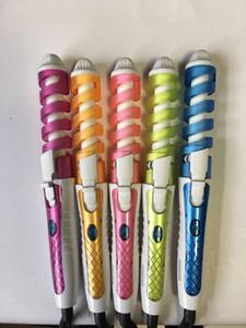 Électrique professionnel bigoudi de cheveux friser les rouleaux Roller Pro coloré spirale rapide chauffage mur cintre diamètre 19mm 35W 220V / 110V NHC-8558