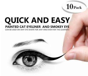 مظللة نظرة عين القط العين سموكي العين نماذج ماكياج كحل قالب الأعلى أسفل أدوات كحل بطاقة مساعدة الحواجب الإستنسل