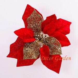 5 Farben 50 STÜCKE 20 CM Für weihnachtsdekoration künstliche seide weihnachtsstern blume köpfe multicolor CF03